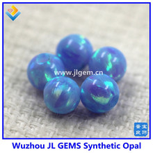wholesale 5mm full drilled loose light blue & turquoise color Synthetic Opal Beads