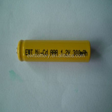 Customized rechargeable high capacity 7.2v aa 700mah nicd battery pack