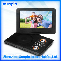 9 inch cheap portable dvd player with car charger mobile dvd player made in china