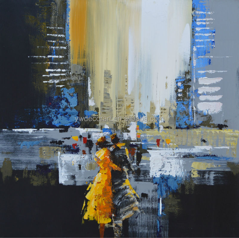 Yiwu China Abstract Cityscape oil Pianting on Canvas