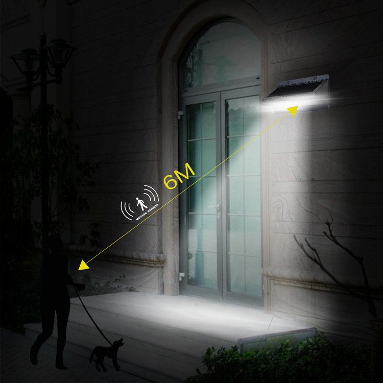 Super bright motion sensor waterproof outdoor 21led 3.5w dimmable solar light of led