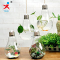 hand made hanging glass bulb shape vase for home decorative