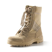 Rubber Sole PU Injected Desert Color Military Boots