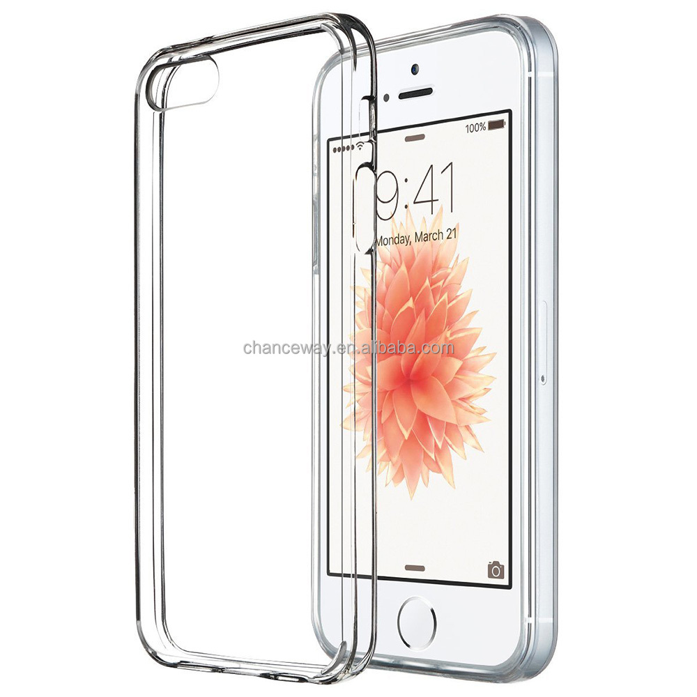 Clear slim cell phone case for iphone5 and 5S