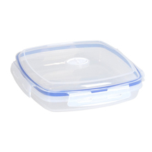 vacuum seal locked tableware plastic divider lunch box