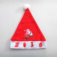 new 2015 cheapest led funny christmas hat decoration for children Santa hats dancing