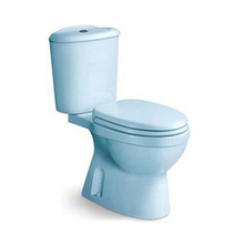 Modern European Style siphonic Sanitary Ware colored Two Piece Toilet