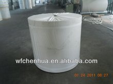 Polyester reinforcement mat for bitumen waterproof membrane