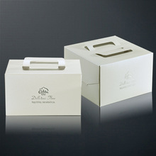 Custom plain white wedding cake boxes paper cake boxes