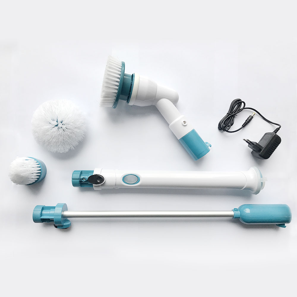 360 Cordless Handheld Rechargeable Power Spin Scrubber Brush For Bathroom