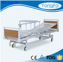 Automatic epoxy coated newest adjustable back stainless steel hospital bed table with drawer