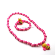 fancy hot styles children's jewelry beaded necklace set for girls