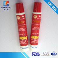 Cartoon red tube plastic packaging tube for medicated face wash