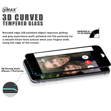 Vmax Supply! 0.33mm 3D Anti-glare 9H Cell Phone full cover Tempered Glass Screen Protector for iPhone 7 / 7 plus