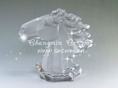 Crystal Horse Head,crystal gift for home decoration