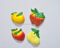 Apples Pears Orange Strawberrys Cute Shape Fruits and Vegetables and Colorful Promotion Fridge Magnets, Magnetic