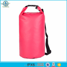 Popular 500D pvc tarpaulin waterproof dry bag with single shoulder strap