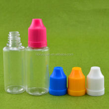 plastic essential oil bottle with childproof cap