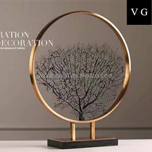 France Modern Iron Resin Abstract Round Art De La Table With Black Stand Wood Tabletop Decorative For Home Folk Art And Crafts