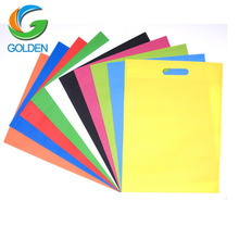 Free Sample Eco Friendly Die Cut Promotional Shopping Non Woven D Cut Bag