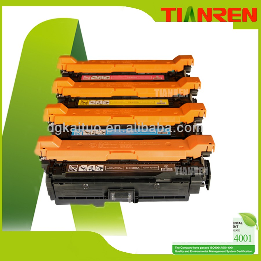 CE400A CE401A CE402A CE403A laser toner cartridge for HP