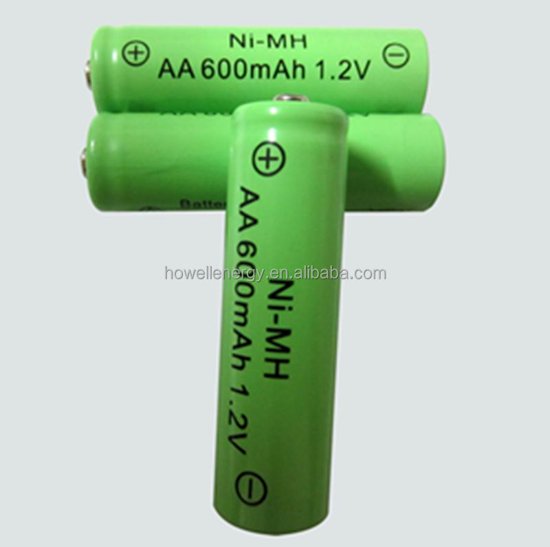 NiMH rechargeable battery for phone AA 600mAh 1.2V with high power AA600