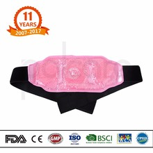 Customized pain relief magic gel beads waist belt with hot cold pack