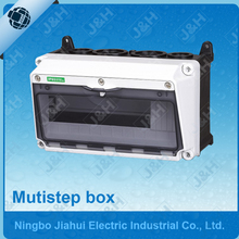 Jiahui supply waterproof mutistep distribution box, low price IP65 waterproof MCB enclosure, outdoor electrical enclosure