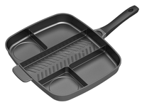 Die-cast aluminum 5 sections divided grill pan/master pan,divided frying pan