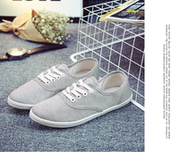 New Students Women Spring Autumn Stretch Bow Canvas Shoes