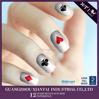 Hot Sale Adhesive Nail Sticker Nail Art Design Stencil For Lady