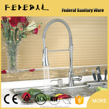 Contemporary chrome polished 3 way pull out kitchen faucet