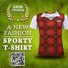Red check polo design - oversize and big tall wholesale t shirt