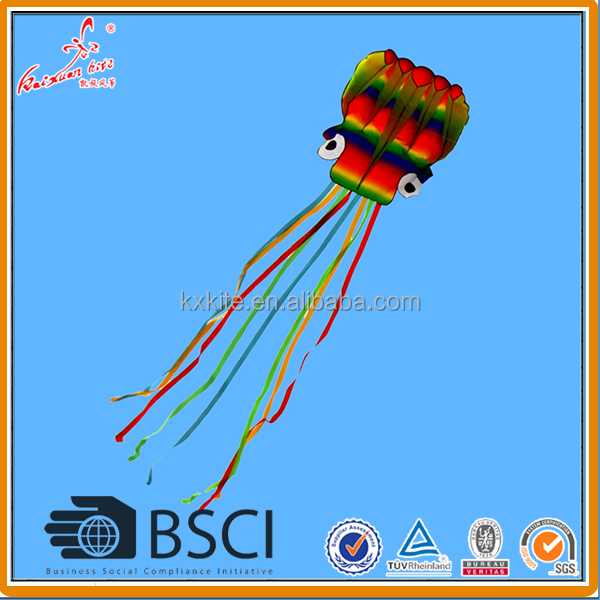 Huge rainbow octopus kite from kaixuan kite factory