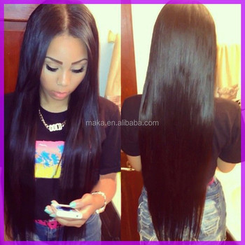 Brazilian Virgin Hair Natural Color Straight Full Lace Wig Virgin Brazilian Hair Lace Wig