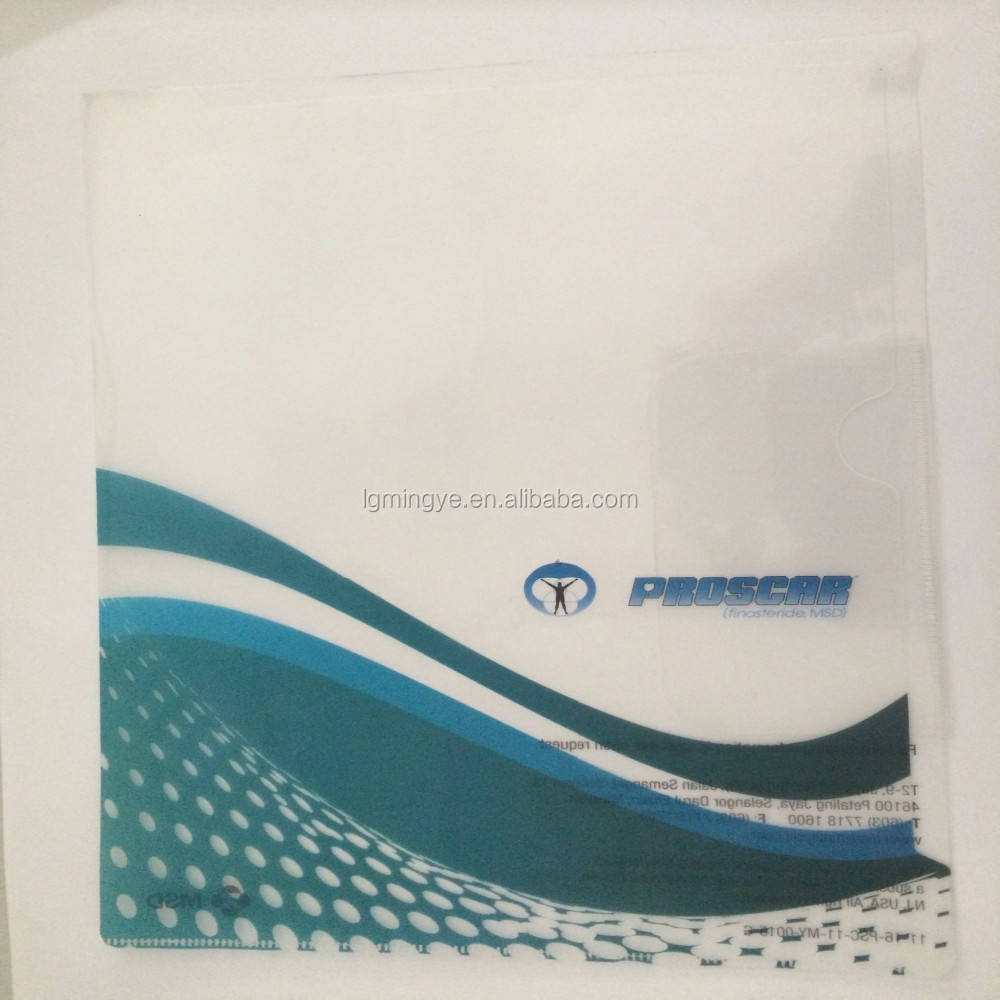 promotional transparent file folder with flap