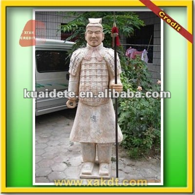Life Size Famous Clay Chinese Warrior Repro Statue For Garden CTWH 1188