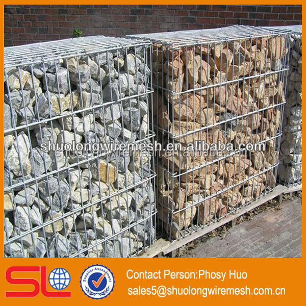Galvanized welded rock basket wire mesh, military welded hesco barrier, wall barrier fence
