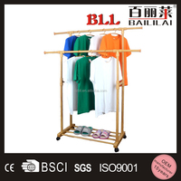 double pole extendable mobile aluminum ceiling mounted clothes drying rack