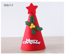 Halloween holiday party dress promotional kid diy dancing christmas santa hat