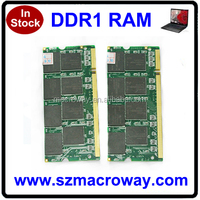 Ram ddr1 2gb sodimm 1GB 256 MB 512MB for laptop