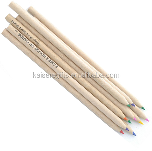 Customized rainbow color wooden 4colors lead pencils for business gifts