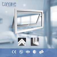 China manufactuer double glazed skyview roof aluminium top hung window