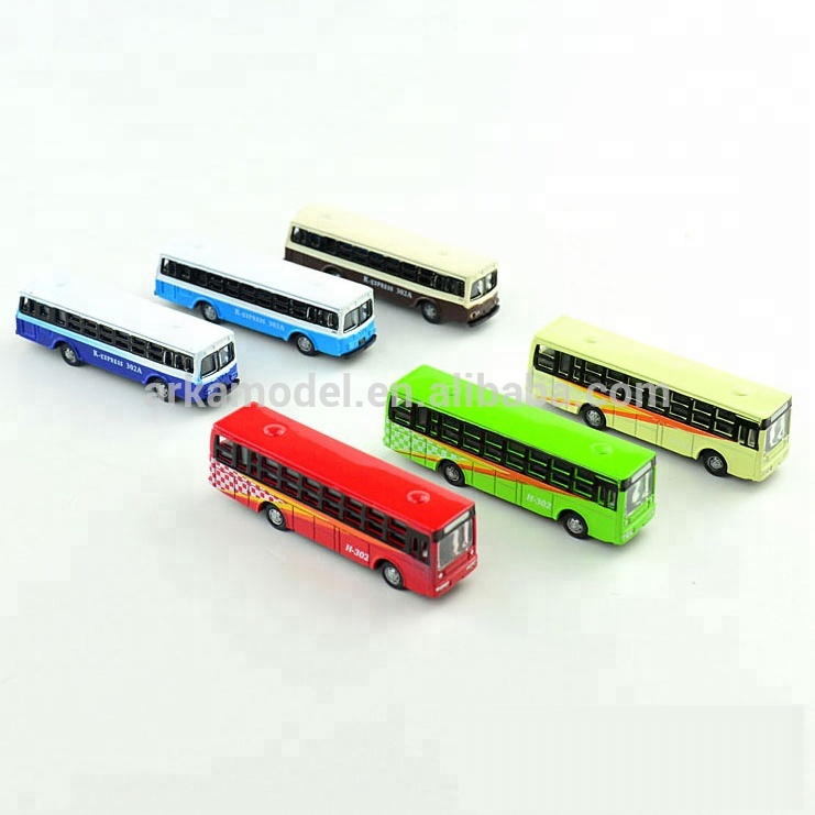 <strong>1</strong>:160 school toy bus plastic architectural model bus for N scale train scenery