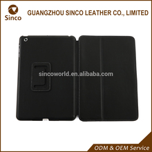 Custom logo flip leather case for ipad mini with price