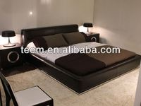 italy design real leather beds modern young bedroom furniture design