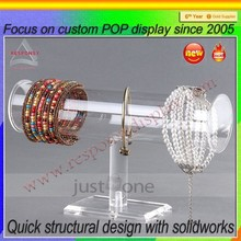 Bracelet cylinder display stand/acrylic jewelry display
