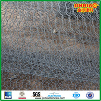 hexagonal wire mesh pvc coated gabion mesh for sale
