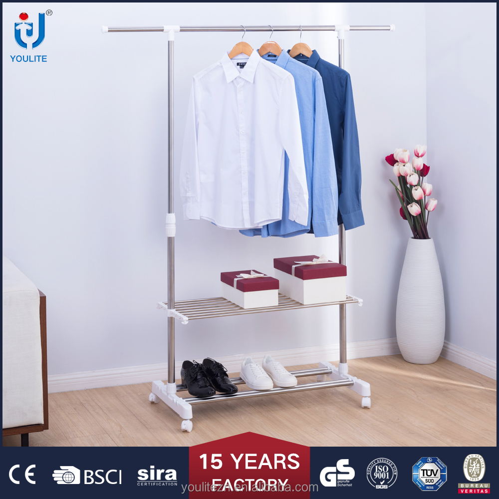 New products 2017 multipurpose single pole storage clothes rack