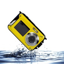 24Mp Full HD 1080P Waterproof Compact Digital Camera With Dual Display